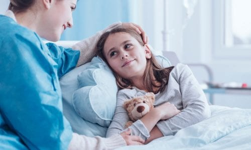 Young girl in hospital : health insurance comparison